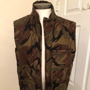 Jcrew men's camo vest